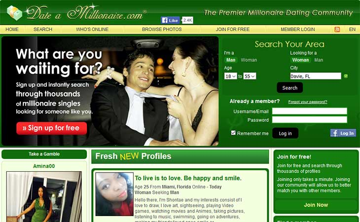 millionaire dating sites uk