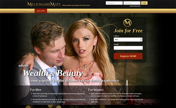 millionaires dating website